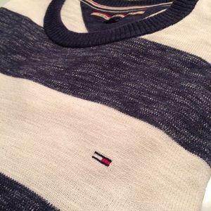 EUC Men's Tommy Hilfiger cotton striped sweater